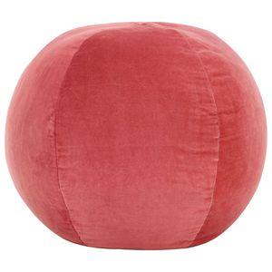 beraes Pouf Baumwollsamt 50×35 cm Rosa
