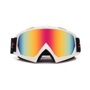 Crossbrille Skibrille Motocross Brille Sport Sonnenbrille Schneebrillen White-Red Film