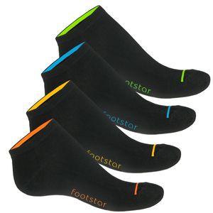 8 Paar Sneaker Socken Neon Glow für Sie und Ihn-43-46