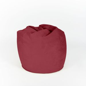 Lumaland Luxury XL Sitzsack stylischer Beanbag 120L Füllung Rot