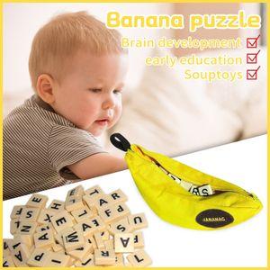 Kinder Early Education Toys 144PCS Bananen Englisch Scrabble Pairing Games Familie HAI210310104