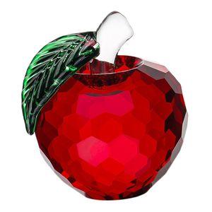 Crystal Äpfel Briefbeschwerer 2 rot Apfel 4x5,5 cm