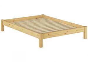 Bettgestell Kiefer natur Einzelbett 120x200 Massivholzbettgestell mit Rollrost 60.35-12