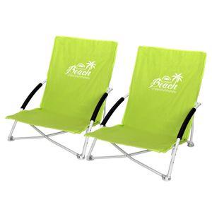 2 Stk. Strandstuhl Summer-Beach inkl. Transporttasche Grün
