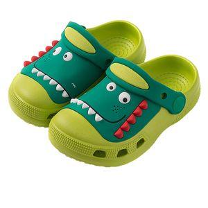 Kinder Summer Beach Schuhe Junge Mädchen Sandalen Nette Dinosaurier Höhle Gartenschuhe Kinder Rutschfeste Hausschuhe Baby Kleinkind Schuhe