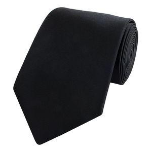 Schlips Krawatte Krawatten Binder 8cm schwarz uni Fabio Farini
