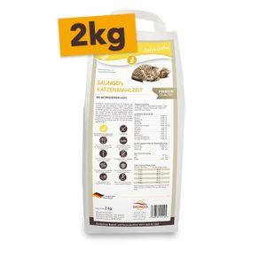 SALiNGO Premium Katzen Trockenfutter Ente mit Perlhuhn | getreidefrei | 2 kg