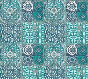 A.S. Création Fliesentapete Il Decoro Vliestapete blau grün grau 10,05 m x 0,53 m
