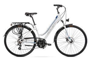 breluxx® 28 Zoll ALU Trekking Damenfahrrad Citybike FS - Gazela 2, weiß blau