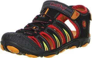 ConWay Kinder Trekkingsandalen Outdoorschuhe rot, Größe:32, Farbe:Rot
