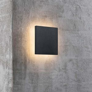 Nordlux Eckige LED Außenwandleuchte Artego schwarz