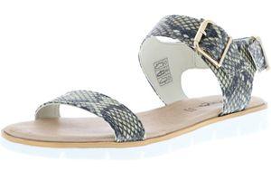 Vista Damen Sandaletten Schlangenoptik, Größe:38, Farbe:Mehrfarbig