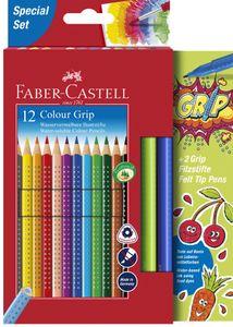 FABER-CASTELL Dreikant-Buntstifte Colour GRIP 12 Stifte im Promotionetui