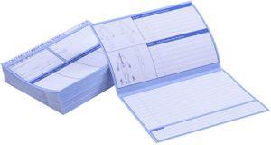 Patientenkarteikarten gefaltet, 100 Stück I DIN A5, 200g/m2 I Karteikarten für die Arztpraxis, Physiotherapie oder Krankengymnastik