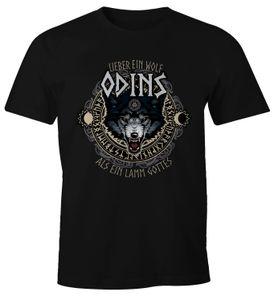 Herren T-Shirt Lieber ein Wolf Odins als ein Lamm Gottes Fun-Shirt Moonworks®  XXL