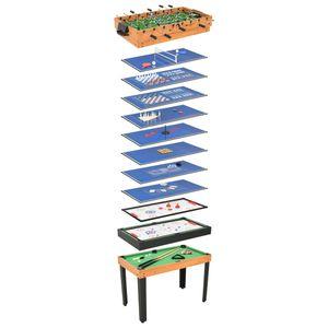 15-in-1 Multigame-Tisch 121×61×82 cm Ahorn