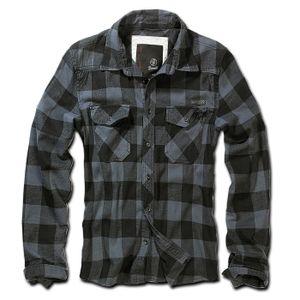 Brandit - Checkshirt black grey Herren Hemd black grey Karo schwarz grau Größe XL
