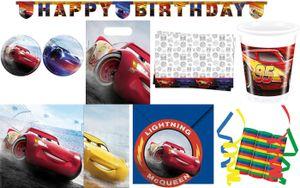 53-tlg. Set Kindergeburtstag Party Deko Feier Motto Cars Legende der Strecke