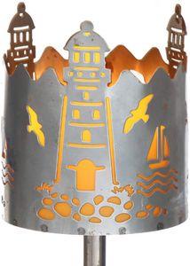Gartenfackel Leuchtturm Feuerschale Metall mit Stiel und Brennmittel