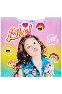 Soy Luna Mädchen Bade Poncho ohne Mütze Rosa, aus 100% Baumwolle