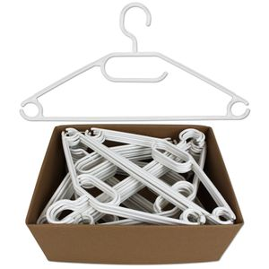 Kleiderbügel 50 Stück Kunststoff Bügel Hosenbügel Garderobenbügel weiß