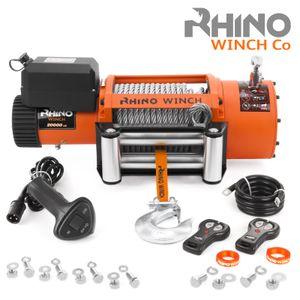 Rhino 24V Elektrische Seilwinde Stahl mit Fernbedienung und Mobilteil - 20,000lb / 9072kg
