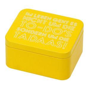 Birkmann Geschenkbox Tadaa, Blechdose, Geschenkdose, Box, Weißblech, Gelb, 12 x 10 x 6 cm, 438088