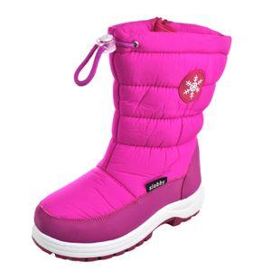 Mädchen Winterstiefel Schneestiefel gefüttert Pink Größe 30