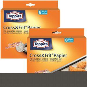 Toppits® Cross & Frit Papier Back-Spezialpapier Snackpapier 8 Bögen ( 2er Pack