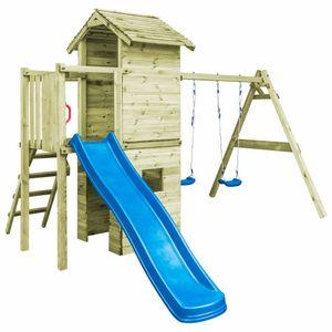 vidaXL Spielturm mit Leiter, Rutsche & Schaukeln 390×353×268 cm Holz