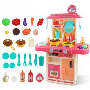 Kinderküche Spielküche Spielzeug Set Rosa Küche Kunststoff Spielzeugküche Kid Gaming DE -Rosa