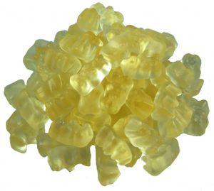 Haribo Goldbären Ananas (1kg Beutel Gummibärchen weiß) sortenrein