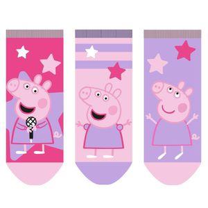 Peppa Pig - Baby Sneaker Socken für Mädchen 3er Pack pink/rosa/lila 23/26