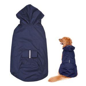 6XL Reflektierende Haustier Hund Regenmantel Regenmantel Regenkleidung mit Leine Loch fuer mittlere grosse Hunde