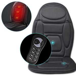 Auto Sitz Massagegerät Sitzauflage Massagematte Wärmefunktion Sitzkissen   Massagesitzauflage  Auto Büro  mit Vibrationsmassage Schwarz