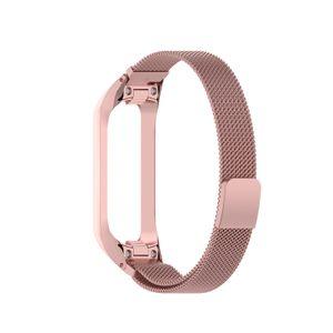 Mehrfarbiges magnetisches Uhrenarmband-Ersatz-Uhrenarmband in Rose Pink für Samsung Galaxy Fit2 SM-R220 Uhrenreparaturteil