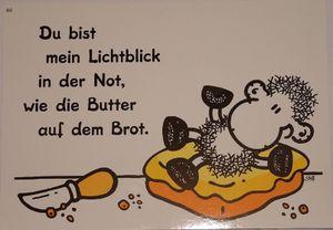 Sheepworld - 50580 - Postkarte, Nr. 80, Schaf, Du bist mein Lichtblick in der Not, wie die Butter auf dem Brot, Liebe, Pappe