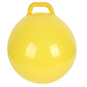 Pure Color Inflatable Bouncing Ball Kinder springen Hopfenball mit Griff fuer Erwachsene Kinder uebungsspielzeug