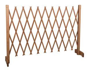 Aufziehbar Hundezaun - Hundeabsperrgitter Holz Hundegitter Schutzgitter - 117 cm