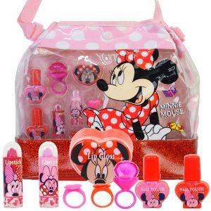 Kinder MINNIE MOUSE Handtasche Beauty Kosmetik Ligloss Schminke SET 9 teilig by Cosmelux(94)