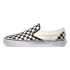 Vans Sneaker Classic Slip On Schachbrett Schwarz / Weiß, Größe:39