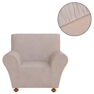 vidaXL Sofahusse Stretchhusse Sofabezug Beige Polyester Jersey