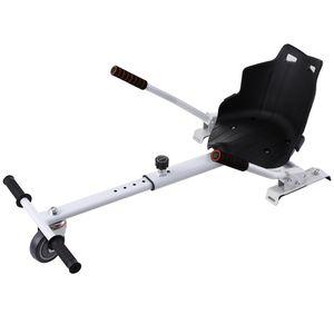 Crenex Kart-Erweiterung Hoverboard Sitz Hoverkart Sitzscooter für 6,5 , 8 und 10 Zoll  Hoverboards weiß