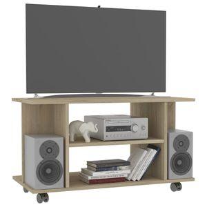 yocmall TV-Schrank mit Rollen Sonoma-Eiche 80×40×40 cm Spanplatte