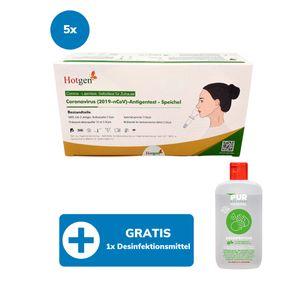 20er HOTGEN COVID-19 Antigen-Schnelltest Speichel- / Spucktest für die Eigenanwendung