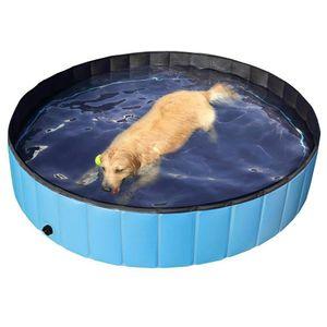 Faltbarer PVC Hund Katze Haustier Schwimmbad Haustier Hund Pool Badewanne Kinderbecken, Wasserteich Pool fuer Hunde Katzen und Kinder im Sommer £¬ 120 * 30cm
