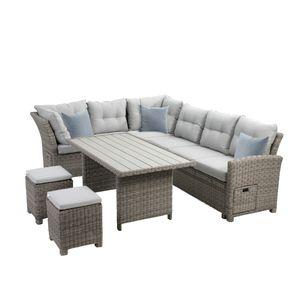 Lounge-Set Malia, halbrund