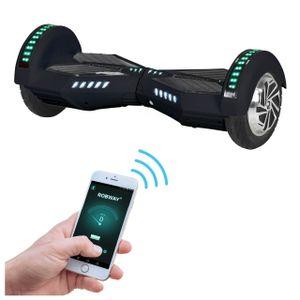 ROBWAY W2 Hoverboard für Erwachsene & Kinder, 8 Zoll Self-Balance-Scooter, Bluetooth-App, 700 Watt (Schwarz Matt)