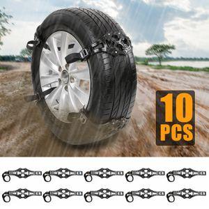 AUDEW 10x Auto LKW Anti-Rutsch Schneekette Reifen Anfahrhilfe Schnee Eis Reifenkette TPU