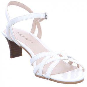 Esprit Damen Sandalette - Birkin Sandal - Lack in weiß - 038EK1W003/100 Weiß 38